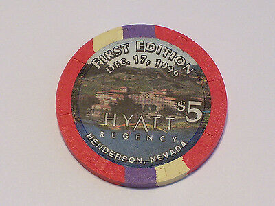 $5 HYATT REGENCY HENDERSON NEVADA Obsolete Casino Poker Chip