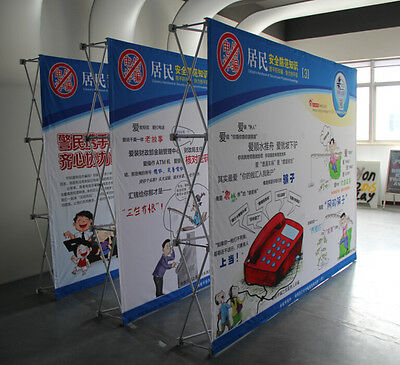 10ft Aluminium Pop up Curved Fabric Tension Trade Show Display / booth CA NEW