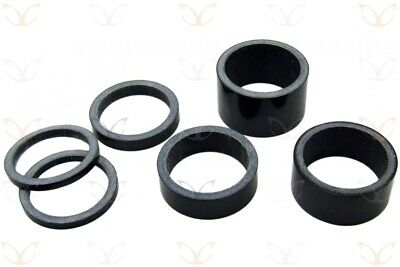 6 Piece Set of eXotic Full Carbon UD Headset Spacers for 1.1/8 in Fork Steerers