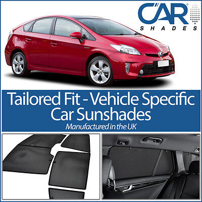 Toyota Prius 5dr 09- UV CAR SHADES WINDOW SUN BLINDS PRIVACY GLASS TINT BLACK