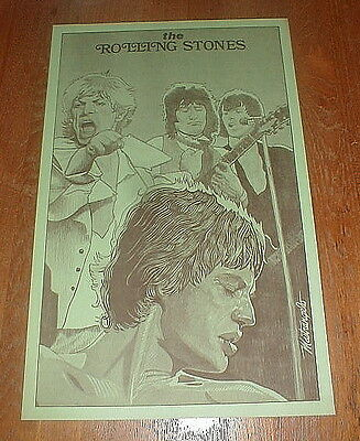 ROLLING STONES Orig 1980 POSTER Sold At Giants Stadium