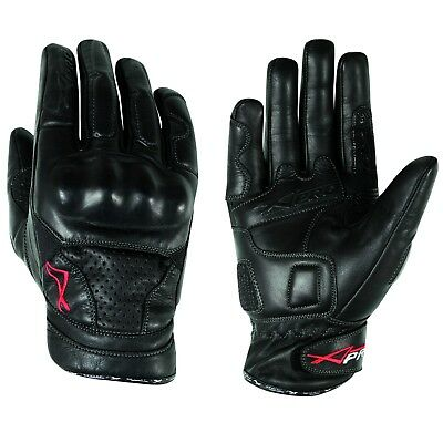 Gants Motard Moto Cuir Protection Phalanges Eté Racing MotoCross Quad MX