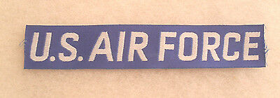 1St Design Korea And Early Nam Woven U.s. Air Force Tape Silver On Blue