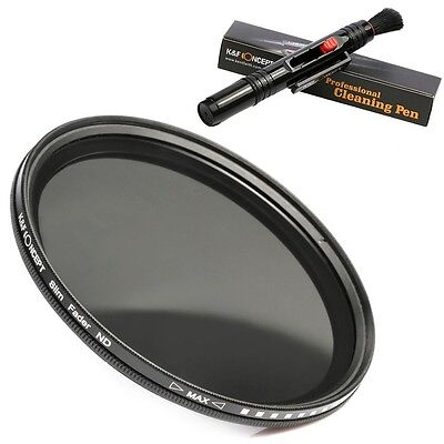 55mm Slim Fader Variable ND2 to ND400 Adjustable ND Neutral Lens Filter For Sony
