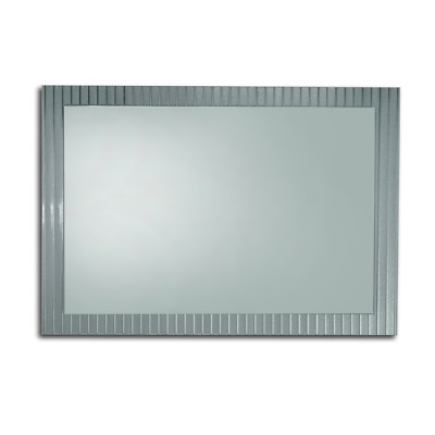 BATHROOM MIRROR 900mm x 750mm HUNG VERTICAL or HORIZONTAL BEVELLED EDGE (E045)