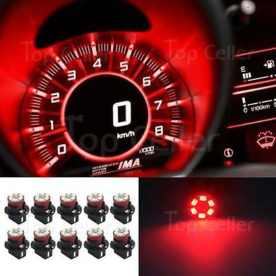 LED RED 10 X INTERIOR DASH INDICATOR LIGHTS DASH BULB SMD W/T10 SOCKET FOR BMW