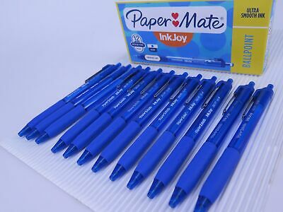 12 x BLUE Papermate Inkjoy 300 Retractable Ballpoint Pen Medium 1.0mm 2008583