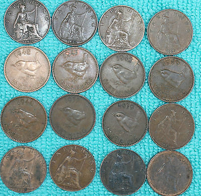 Farthing coins ALL DIFFERENT DATES choose how many coin collection