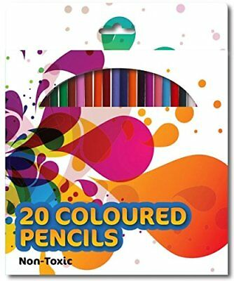 24 Colouring Colour Pencil Coloured Pencils Pack Children Kids School Art Craft