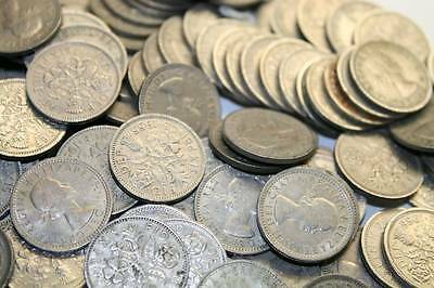 Old Sixpence 6D Coins Different Dates From 1920-1967 Choose How Many