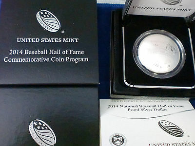 2014 Baseball Commemorative Silver Dollar Coin  PROOF  SHIPS FOR FREE