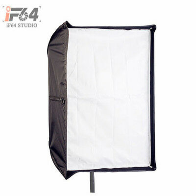 Photo Studio 80 x 120cm Umbrella Rectangle Softbox Dual-use For SpeedLight Flash