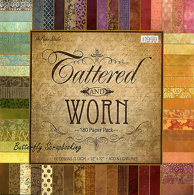 Tattered And Worn 12X12 Scrapbooking Paper Pad 180 Sheets The Paper Studio New