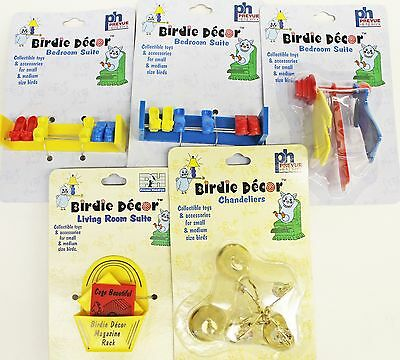 5 Bird Finch,Canary,Parakeet,Cockatiel,Parrot Toys Cage House Decorations NEW