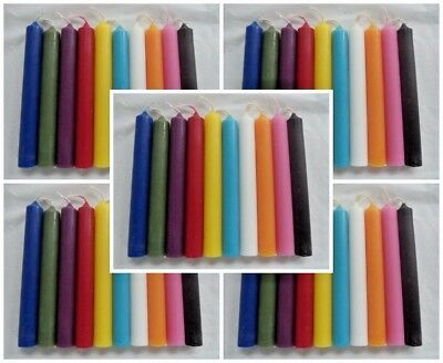 "WHOLESALE LOT OF 50 MINI 4"" CHIME SPELL CANDLES (Altar Wicca Pagan Magick)"