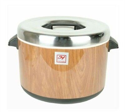 Thunder Group Asian Cookware, Insulated Sushi Pot - Wood Grain- 40 Cups SEJ71000