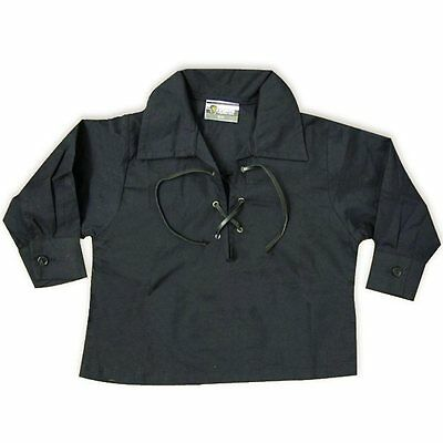Baby Black Jacobite Scotland Ghillie Shirt Ages 0 - 24 Months