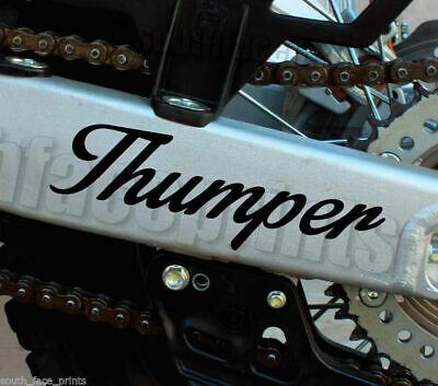 "Thumper 8"" Stainy enduro dualsport moto dirtbike Vinyl Decal Sticker CUSTOM"