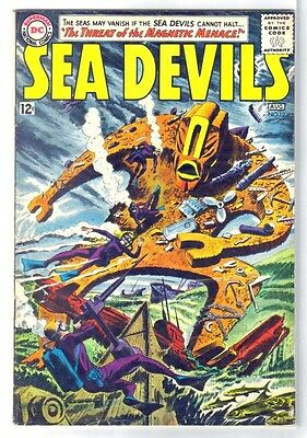 SEA DEVILS #12 Threat of the Magnetic Menace! DC Comic Book ~ VG/FN