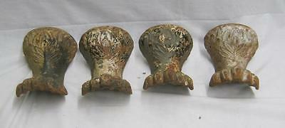 Set of 4 Antique Clawfoot Bathtub Legs Feet Lion's Paw  3431-14