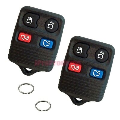 2 Pack New Replacement Keyless Entry Remotes 4 Button Fobs iFD4x2 + 2 Key Rings
