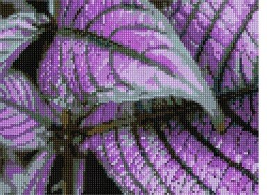 Purple Leaves Needlepoint Kit or Canvas (Ivy/Floral/Flower/Nature)