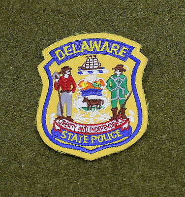 28393) Small Patch Delaware State Police Department Insignia Sheriff