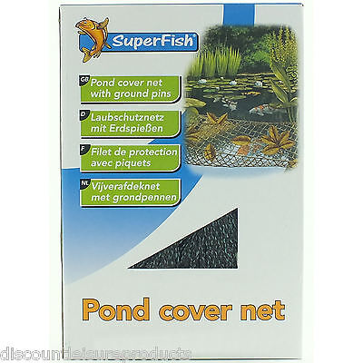 Superfish 4m x 4M étang Protection Couverture Net Jardin Filet Avec Fixation