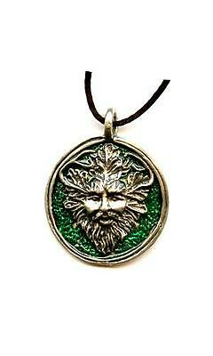 Greenman Pendant w/cord Pewter - Made in the USA!