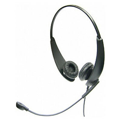 Accutone Binaural Handsfree Headset with noise cancelling mic for office use.