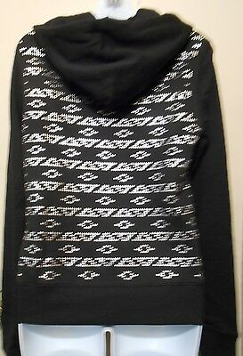 Victoria's Secret Pink Bling Studded Aztec Hoodie Black XS NWT