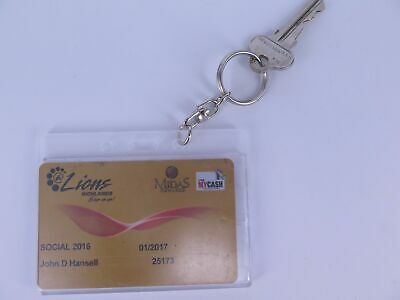 2 x Rexel Clear ID Credit Fuel Card Holder With Key Ring 9801912