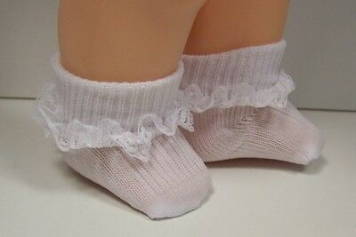 """WHITE Lace Socks (U Sew Bows Upon Request) Doll Clothes For 16"""" Terri Lee DEBs"""