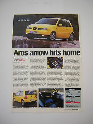 SEAT Arosa 1.4 16v Sport - First Look article from 2000