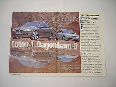 Ford Mondeo ST24 v Vauxhall Vectra GSi Road Test from 1998