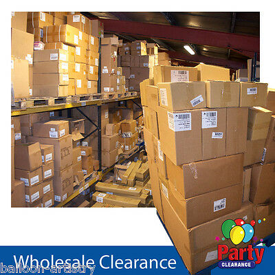 Wholesale Clearance Boxes Approximately 100 Assorted Party Items Per Box