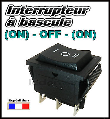996C# interrupteur momentané à bascule 16A 2 RT 3 positions (ON)-OFF-(ON)
