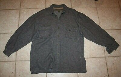Abercrombie Vintage Mens Large Button Front Outdoor Heavy Duty Shirt