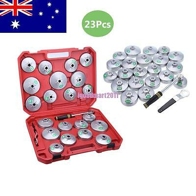 23Pcs Aluminium Oil Filter Cup Type Wrench Set Tool Removal Socket Remove Kit