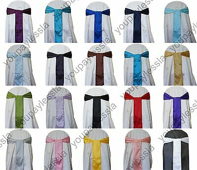 "6"" x 108"" Satin Chair Cover Sash Bow Wedding Party Banquet Dinner Party Decor"