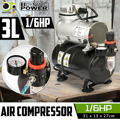 1/6HP Air Compressor with Tank for Air Brush Spray Gun Nail Art Make Up Tattoo