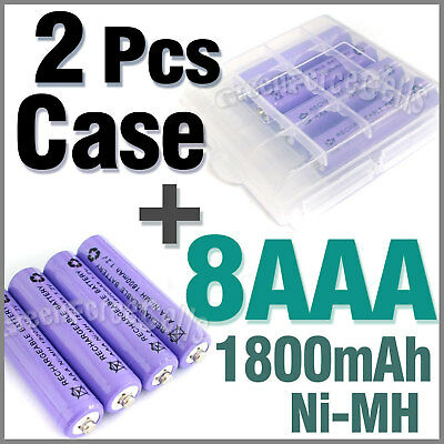 2 x Case + 8 AAA Ni-MH 1800mAh rechargeable battery P1