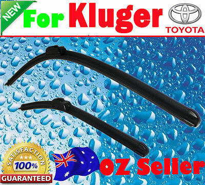Pair Frameless Windscreen Wiper Blades For TOYOTA KLUGER 2007 - 2013