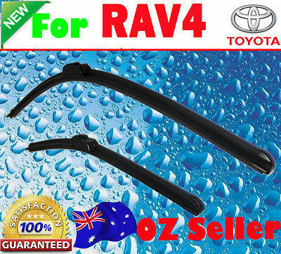 Pair Frameless Windscreen Wiper Blades For TOYOTA RAV4 2006 -2012