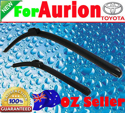 Pair Frameless Windscreen Wiper Blades For TOYOTA AURION 2006 - 2015