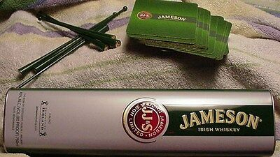 Jameson Irish Whiskey Bar Collection - Cannister, Coasters, and Stirrers.Style 2