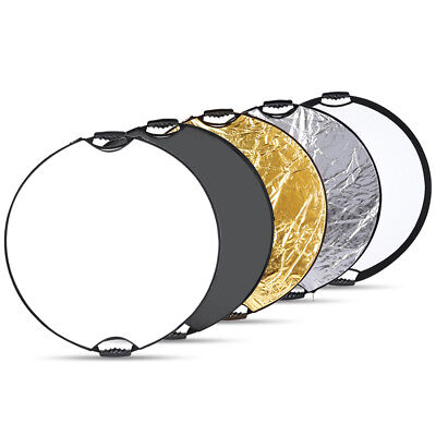 "Portable Multi Disc 32"" Photography Reflector 5-in-1 Circular Collapsible EM#01"