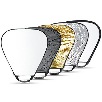 """Neewer 32"""" Portable Multi Disc Triangle Photography Reflector 5-in-1 Collapsible"""