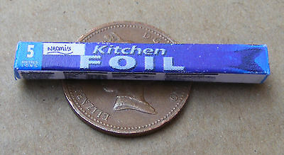 1:12 Scale Closed Tin Foil Packet Dolls House Miniature Kitchen Food Accessory
