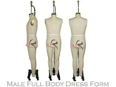 Professional Working Dress form, Male Mannequin,Full Size 40, w/Legs